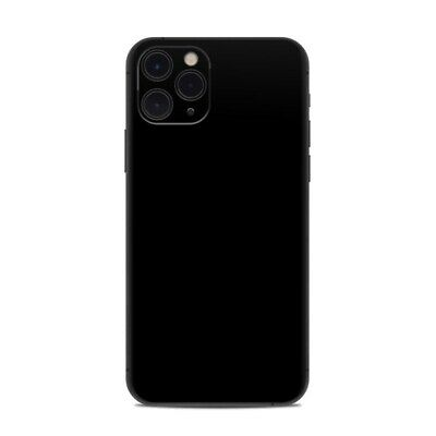 iPhone 11 Pro Skin - Solid Black - Sticker Decal