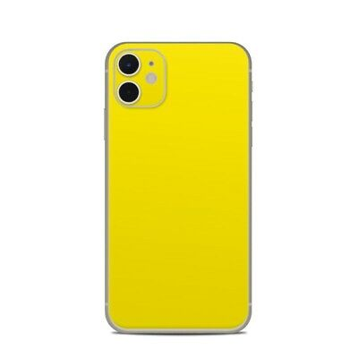 iPhone 11 Skin - Solid Yellow - Sticker Decal