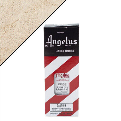 C--070 Angelus Leather Suede Dye Dressing For Boot Bags 3Oz W/ Applicator Beige