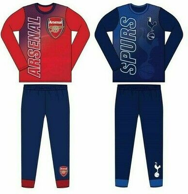 Boys Kids Official Football Club Pyjamas Age Size 4 to 12 Years PJs NEW