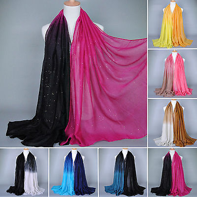 Womens Ladies Large Voile Soft Chiffon Long Scarf Pashmina Shawl Wraps Scarves