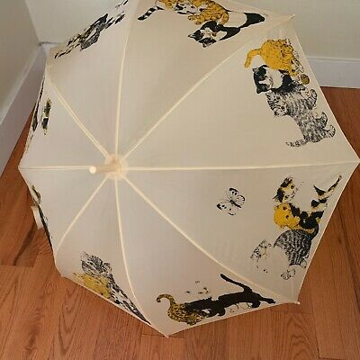 Vintage Artfarm Animal Series Cat Umbrella NWT