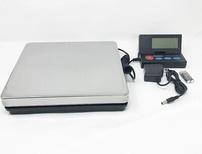 DIGITAL SHIPPING SCALE POSTAL PARCEL SCALE 110 LBS STAINLESS STEEL w/ AC ADAPTER