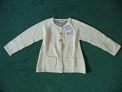 JoJo Maman Bebe New Pretty Winter Cardigan £21 4-5 Years Girls Ecru Cardi Cream