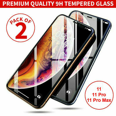 Screen Protector for New iPhone 11,11 Pro,11 Pro Max  9H Gorilla Tempered Glass