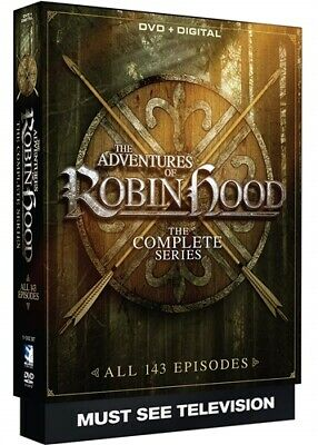 THE ADVENTURES OF ROBIN HOOD COMPLETE SERIES New DVD All 143 Episodes 1955-1960