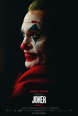 "Joker white face Movie Poster  24"" x 36"" or  27""x 40"""