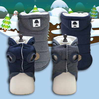 Dog Clothes Thickening Warm Small Dog Coat Jacket Cute Pet Costume Winter Teddy