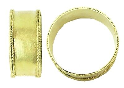 RARE 8th - 10th century A.D. Germanic Saxon Pale Gold Wide Banded Finger Ring