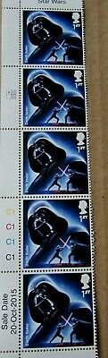 2015 SG 3758 1st  X 5 NVI Darth Vader STAR WARS MINT