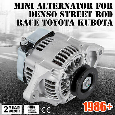 HQ MINI ALTERNATOR FOR DENSO STREET ROD RACE 1-WIRE One Wire 70 Amp CE