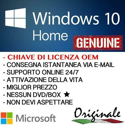 Windows 10 HOME ✅ 32/64 bits ✅ Codice Originale ESD Licenza ✅ Online Attivo