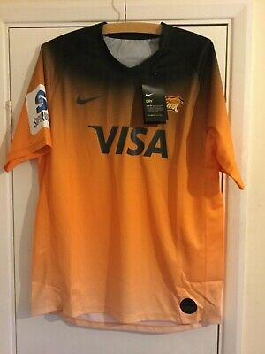 Nike 2019-2020 Jaguares Away Rugby Jersey Short Sleeve T Shirt Size:Large BNWT