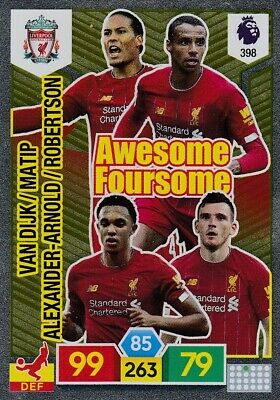 Panini Premier League 2019/20 Adrenalyn XL #398 Liverpool AWESOME FOURSOME