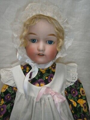 "ANTIQUE 25"" (64cm)  PORCELAIN DOLL MARKED FJ NO 76018 NIPPON 406"