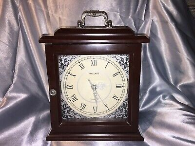 An Elegant Mahogany Wallace Mantle Clock With Secret Hidden Felt Covered Drawers