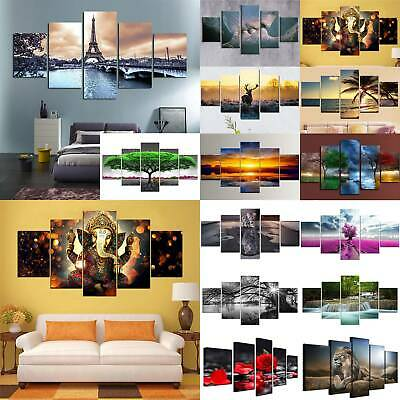 5 Panels Unframed Modern Wall Hanging Canvas Printing Picture Art Oil Home Decor