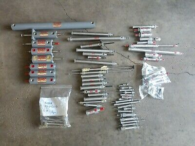 Assortment of 70 plus Bimba pnuematic cylinders STAINLESS AND DOUBLE WALL