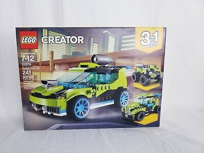 Kids Toy Gift 241 Piece LEGO Creator 3in1 Rocket Rally Car 31074 Building Kit