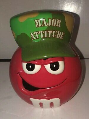 """8"""" M&M Red Major Attitude Candy Dish Cookie Jar Galerie"""
