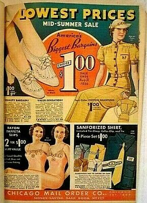 1936 Chicago Mail Order Co Summer Catalog Womens Mens Clothes Household
