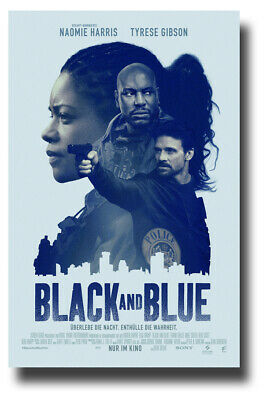 "Black and Blue Poster 2019 Movie - 11""x17"" Bluish SameDay Ship from USA"