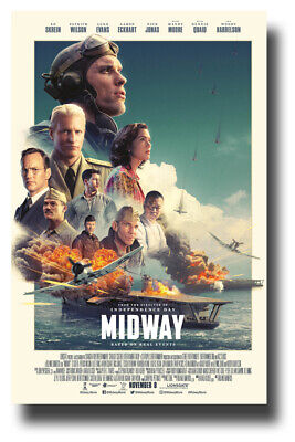 "Midway Poster 2019 Movie 11""x17"" Collage SameDay Ship from USA"