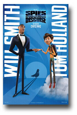 "Spies in Disguise Poster 2019 Movie 11""x17"" Fist Bump SameDay Ship from USA"