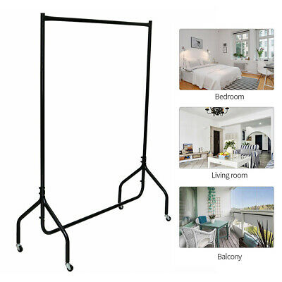 4ft Metal Heavy Duty Rack Garment Clothes Rail Home Shop Hanging Display Stand