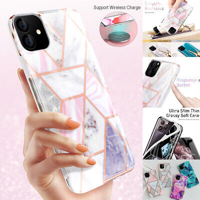 For iPhone 11 Pro Max Case Soft TPU Case Marble Shockproof Silicone Gel Cover