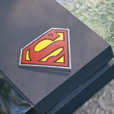 Superman Car Emblem 3D Black Red Yellow Chrome DC Comics Automotive Decal Sti...