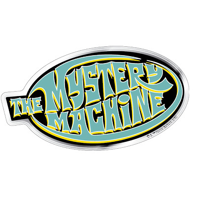 Scooby-Doo Mystery Machine Premium 3D Domed Logo Automotive Decal Sticker Bad...