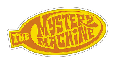 Scooby-Doo Mystery Machine Motif Premium 3D Character Domed Logo Automotive S...