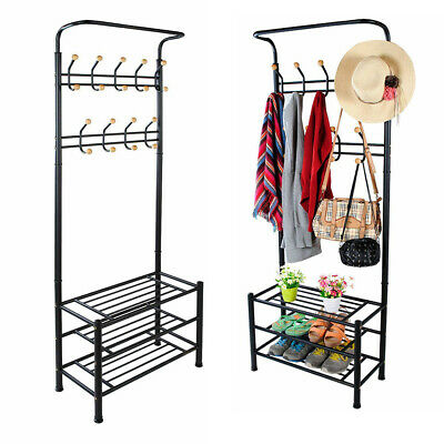Clothes Rail Rack Garment Dress Hanger Display Stand Shoe Hat Hook Storage Shelf