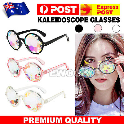 Kaleidoscope Glasses Rave Festival EDM Sunglasses Diffracted Lens Party Show OZ