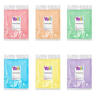 Candy Floss Sugar 100g Multiple Choice Colours, Flavours and Sticks For Machine