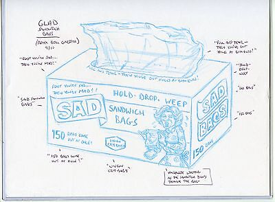2010 Topps Wacky Packages Old School Rough Art Sad Bags