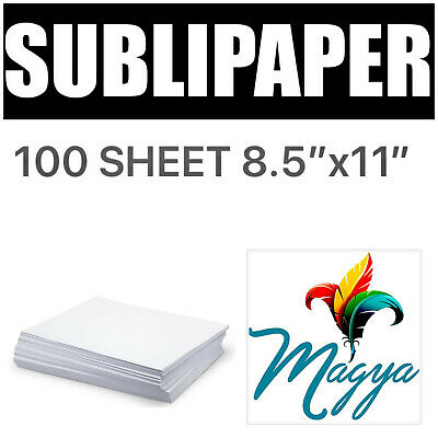 """Transfer Paper for Dye Sublimation inks 100 Sheets 8.5""""x11"""""""