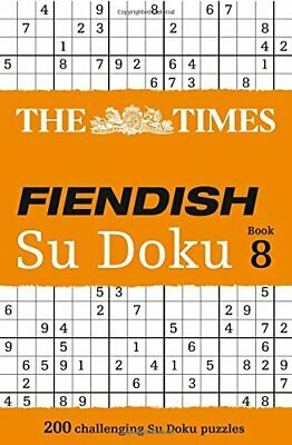 The Times Fiendish Su Doku Book 8, Games New 9780007580798 Fast Free Shipping..