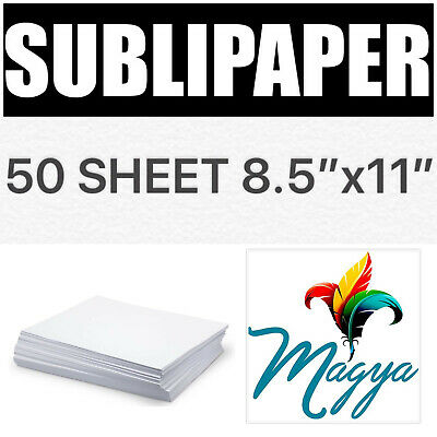 """Transfer Paper for Dye Sublimation inks 50 Sheets 8.5""""x11"""""""