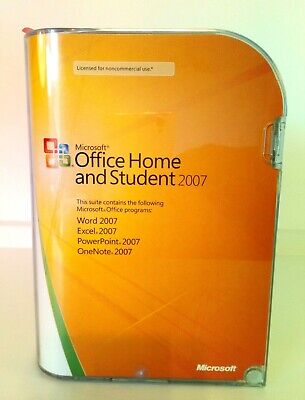 Genuine Microsoft Office Home And Student 2007 CD
