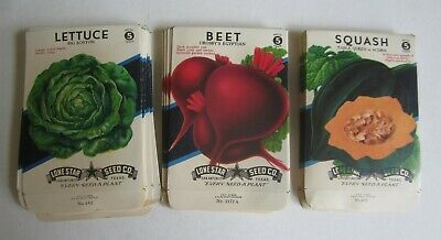 Wholesale Lot of 250 Old Vintage Vegetable SEED PACKETS EMPTY 15 cent