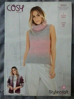 Stylecraft 9564 Knitting Pattern Cosy Chunky Ladies Jacket Vest