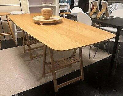 Biface Retro - Style Oak 8 Seat Dining Table Top