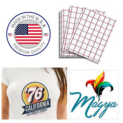 "Iron-on Heat Transfer Paper Light Fabrics - Red Grid 8.5"" x 11"" 10 sheets"