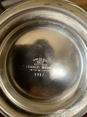 F.B. Rogers Silver Co Small Silver Bowl Silver on Copper 1912 Vintage Classic