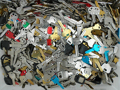 Large Lot Of Key Blanks 3+ Pounds Uncut Commercial House Cars New Old Vintage
