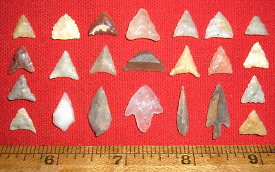(23) MINI Assorted Sahara Neolithic Points, Tools, Prehistoric African Artifacts