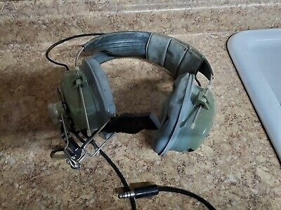 USAF Noise Cancelling pilot headset boom Mic  ElectroVoice 5Ω SPECIAL Hi OUT NOS
