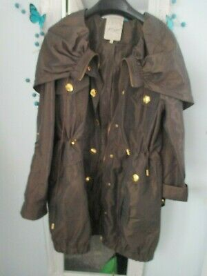 womens/girls brown hooded jacket/coat - River Island - size 8/10